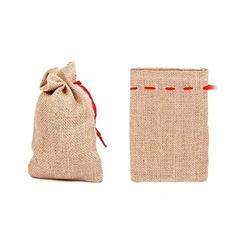 Jutesäckchen 48 Stück Jutesäcke Adventskalender Säckchen, 19 m x 13 cm, zum Basteln & befüllen, Weihnachtszubehör JS-02 von Alsino