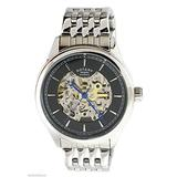 Rotary Men's Black Skeleton Dial Stainless Steel Bracelet Watch GB00162/04