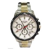 Rotary Men's White Dial Stainless Steel Two Tone Bracelet Chronograph Watch GB00173/02
