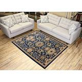 """Navy Blue Area Rug 4'9"""" x 6'10"""" Mahal Persian Design Traditional Oriental Area Rugs Modela Collection"""