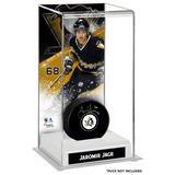 """Jaromir Jagr Pittsburgh Penguins Deluxe Tall Hockey Puck Case"""