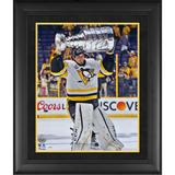 """""""Marc-Andre Fleury Pittsburgh Penguins Framed 2017 Stanley Cup Champions Autographed 16"""""""" x 20"""""""" Raising Photograph"""""""