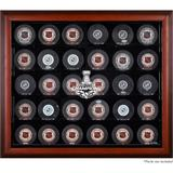 """""""Pittsburgh Penguins 2017 Stanley Cup Champions Mahogany Framed 30-Puck Logo Display Case"""""""