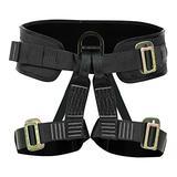 Fusion Climb Apollo Tactical Zipline Padded Half Body Adjustable Harness 23kN L-XL Black