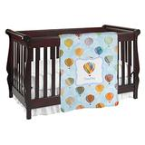 Watercolor Hot Air Balloons Baby Blanket (Double Sided) (Personalized)