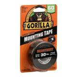 GORILLA GLUE 6055002 Mounting Tape,Black,5 ft,Continuous Roll