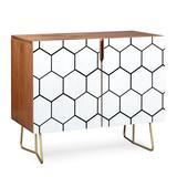 East Urban Home Honey Comb 2 Doors Accent Cabinet Wood in Brown, Size 38.0 H x 38.0 W x 20.0 D in | Wayfair EAAS1029 39955168