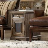 Hooker Furniture Hill Country End Table w/ Storage Wood in Black/Brown, Size 24.25 H x 16.0 W x 24.5 D in | Wayfair 5960-50008-MULTI