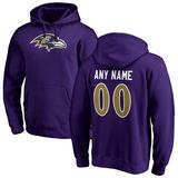 """""""Men's Fanatics Branded Purple Baltimore Ravens Personalized Icon Name & Number Pullover Hoodie"""""""