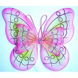 Cutie Collection White Sparkling Fairy Costume Wings (PINK DOUBLE LAYER)