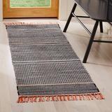 Dakota Fields Granada Handmade Flatweave Multicolor Area Rug Polyester/Cotton in Black/Brown, Size 84.0 H x 27.0 W x 0.25 D in | Wayfair