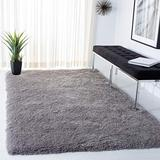 Safavieh Venice Shag Collection SG256S Handmade Glam 3-inch Extra Thick Area Rug, 5' x 7', Silver
