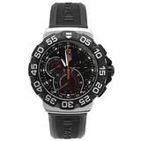 Tag Heuer Men's Formula 1 Chronograph Black Dial Black Rubber