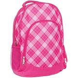 Pink Preppy Plaid Reinforced and Water Resistant Padded Laptop School Backpack