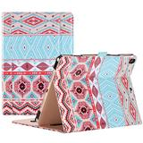 """ProCase iPad Air (3rd Gen) 10.5"""" Case 2019, Vintage Stand Folio Case Cover for Apple iPad Air (3rd Gen) 10.5"""" 2019 and iPad Pro 10.5 2017, Multiple Viewing Angles, with Apple Pencil Holder (Aztec1)"""