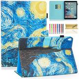 Dteck iPad Air Case 3rd Generation 2019 (A2152 /A2123 /A2153), iPad Pro Case 2017 (A1701 /A1709) - Smart Stand Wallet Slim Lightweight Leather Flip Cute Cover for Apple iPad 10.5 Inch (Starry Night)