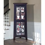 Red Barrel Studio® Bankston Corner Lighted Display StandWood in Black, Size 70.0 H x 27.25 W x 19.48 D in | Wayfair RBRS7377 40331926