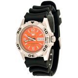 Seiko 5 Sports Men's 2007 Orange Dial Rubber Band Automatic Watch Model SNZE61K1