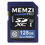MEMZI PRO 128GB Class 10 80MB/s SDXC Memory Card for Canon Vixia HF R800, HF R82, HF R80, HF R700, HF R72, HF R70, HF R600, HF R62, HF R60, HF R500, HF R52, HF R50 Digital Camcorders