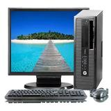 HP ProDesk G1 Small Form Desktop Computer Tower PC (Intel Core i3-4130, 8GB RAM, 500GB HDD, WiFi, Keyboard Mouse) 17in LCD Monitor Windows 10 (Renewed)