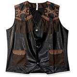 AMSCAN Cowboy Vest Deluxe Halloween Costume Accessory for Adults, One Size