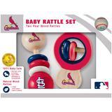 """""""St. Louis Cardinals Infant 2-Pack Wood Rattle Set"""""""