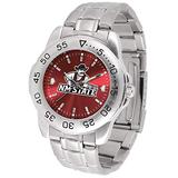 SunTime Men's New Mexico State Aggies Sport Steel Anochrome Dial Watch Watch