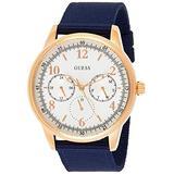Guess Watches Guess Men's -Rose Gold-Beige Watch Blue