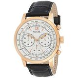 Guess Watches Men's Guess Leather -Rose Gold Watch