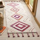 Union Rustic Powell Southwestern Handmade Tufted Wool Beige/Pink Area Rug Polyester/Viscose in Brown/Pink, Size 96.0 H x 27.0 W x 1.0 D in   Wayfair