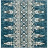 Mistana™ Baby & Kids Abbingt Floral Royal/Ivory Area Rug Polyester/Polypropylene/Cotton/Wool/Jute & Sisal in Blue/Brown/White, Size 0.43 D in