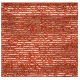Bungalow Rose Jahiem Striped Handmade Flatweave Rust Area Rug Wool in Brown, Size 72.0 H x 72.0 W x 0.75 D in   Wayfair MTNA3524 40644171