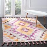 Mistana™ Baby & Kids Abbott Southwestern Handmade Tufted Wool Orange/Purple Area Rug Wool in Brown/Indigo, Size 72.0 H x 48.0 W x 1.0 D in   Wayfair