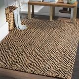 Laurel Foundry Modern Farmhouse® Grassmere Geometric Handmade Flatweave Jute Black Area Rug Jute & Sisal in Black/Brown | Wayfair LFMF1565 40645311