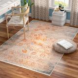 Mistana™ Gillett Oriental Multicolor Area Rug in Brown/Gray/Orange, Size 72.0 H x 48.0 W x 0.24 D in | Wayfair MTNA3596 40644689
