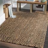 Laurel Foundry Modern Farmhouse® Grassmere Geometric Handmade Flatweave Jute Black Area Rug Jute & Sisal in Black/Brown | Wayfair LFMF1565 40645312