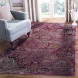 World Menagerie Flori Fuchsia/Purple Area Rug Polypropylene in Brown/Indigo, Size 96.0 H x 60.0 W x 0.0 D in | Wayfair WRMG1114 40804261