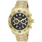 Invicta Men's Pro Diver Stainless Steel Analog-Quartz Watch with Stainless-Steel Strap, Gold, 10 (Model: 24834)