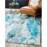 Bayou Breeze Esposito Animal Print LightArea RugPolypropylene in Blue, Size 120.0 H x 96.0 W x 0.5 D in   Wayfair BBZE2918 40772859