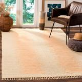 Highland Dunes Cayman Abstract Handmade Flatweave Cotton Ivory Area Rug Cotton in Brown/White, Size 48.0 H x 30.0 W x 0.25 D in | Wayfair