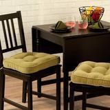 Greendale Home Fashions Hyatt Dining Chair Cushion green, Size 2.0 H x 17.0 W x 17.0 D in | Wayfair CP5207S2-Moss