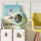 "Vornado Large Vintage Whole Room Air Circulator 14"" Floor Fan in Green, Size 17.375 H x 15.313 W x 10.5 D in | Wayfair CR1-0230-17"