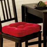 Greendale Home Fashions Hyatt Dining Chair Cushion in Red, Size 2.0 H x 17.0 W x 17.0 D in | Wayfair CP5207S2-Scarlet