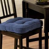 Greendale Home Fashions Hyatt Dining Chair Cushion in Blue, Size 2.0 H x 17.0 W x 17.0 D in | Wayfair CP5207S2-Denim