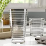 Libbey Hoops 16-Piece Tumbler & Rocks Glass Set Glass, Size 5.84 H x 3.47 W in | Wayfair 55535