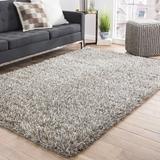 Winston Porter Arlyne Handmade Shag Gray Area Rug Polyester/Wool in Brown/Gray, Size 96.0 W x 2.0 D in   Wayfair OREL6174 41161372