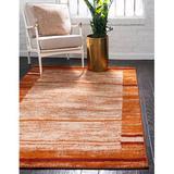 Wade Logan® Guzzi Abstract Terracotta Area Rug Polypropylene in Brown/Orange, Size 120.0 H x 96.0 W x 0.5 D in   Wayfair EBND6136 40980396