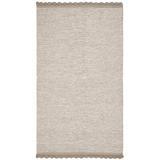 Gracie Oaks Mohnton Handmade Flatweave Cotton Beige Area Rug Cotton in White, Size 60.0 H x 36.0 W x 0.25 D in | Wayfair GRKS4888 41109655