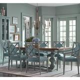 Casa Florentina Tarvine Double Pedestal Extension Dining Table with Walnut Top - Custom - Ballard Designs