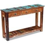 "vidaXL Console Table Solid Reclaimed Wood 47.2""x11.8""x30"""